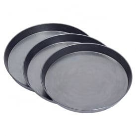 "Deep Dish Black Iron Pizza Pan 2"" Deep"
