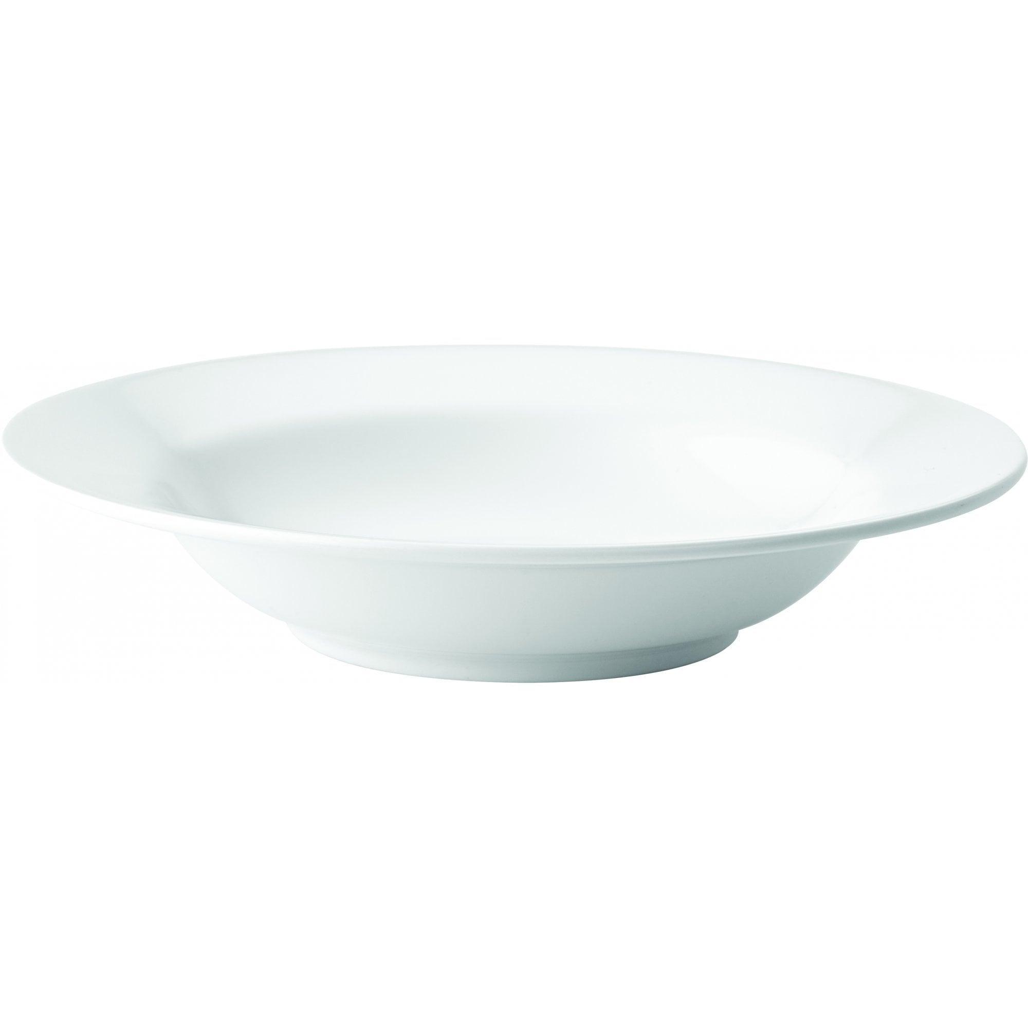 "12 x Kingline White Melamine Pasta Bowl 7.75/"" 19.5cm"