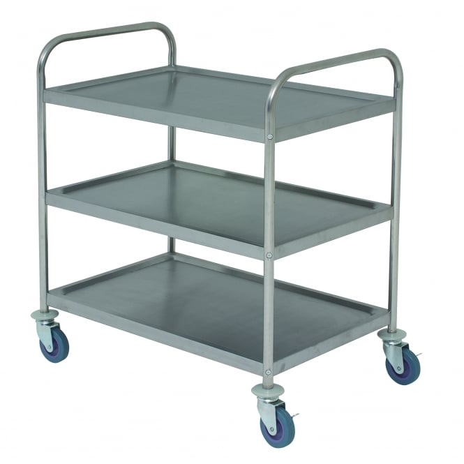 Kitchen Worktops For Sale Ireland: Genware Flat-Packed Stainless Steel Trolley